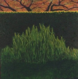 The Good Fire, acrylic on wood panel