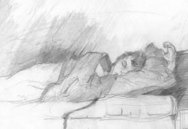 James Todd Sleeping, pencil
